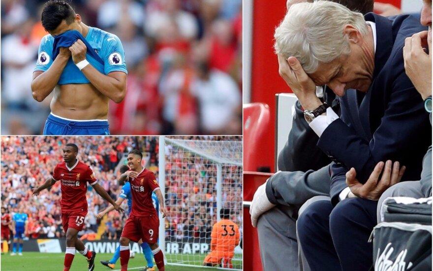 Arsenal neturėjo jokių šansų Liverpulyje (AP ir Reuters nuotr.)