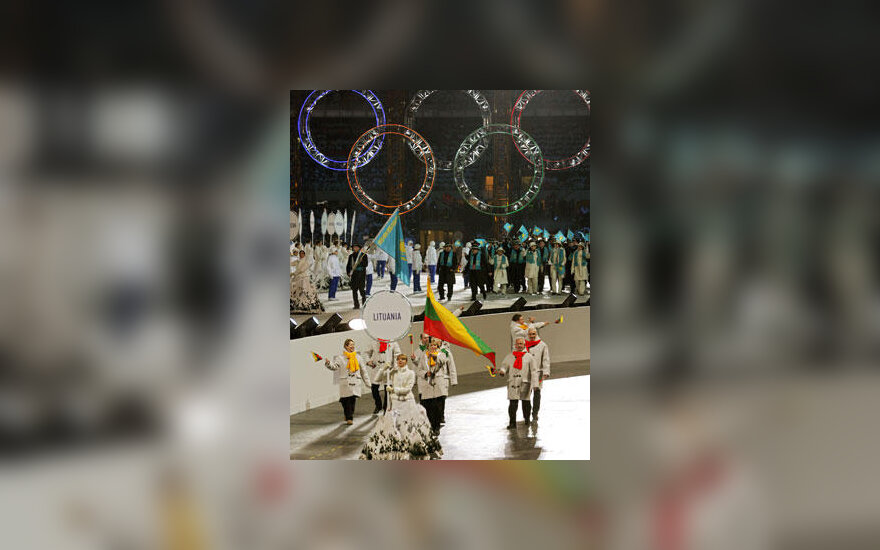 Lietuvos delegacija Turino žiemos olimpinių žaidynių atidaryme