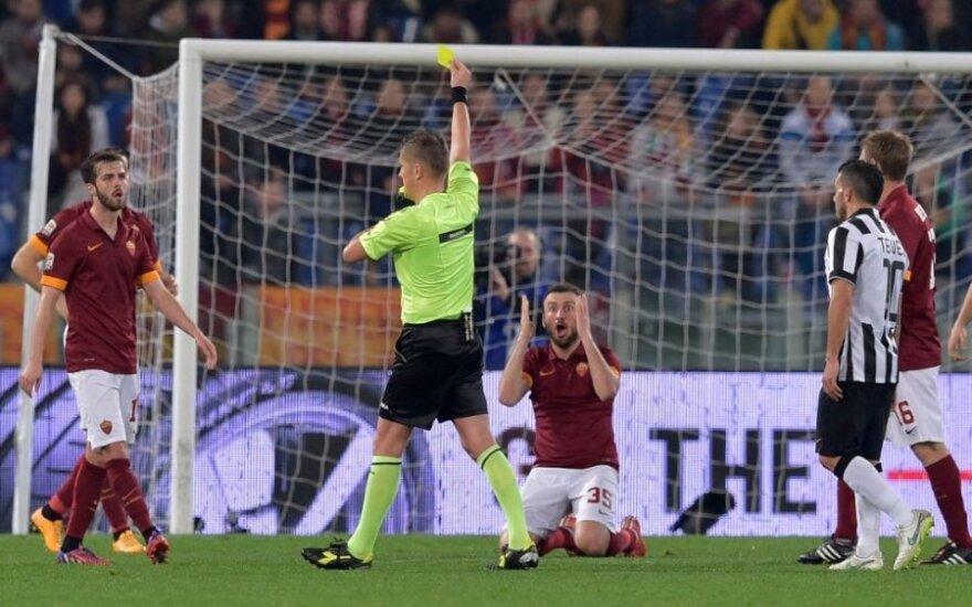 """AS """"Roma"""" klubo futbolininkų reakcija"""