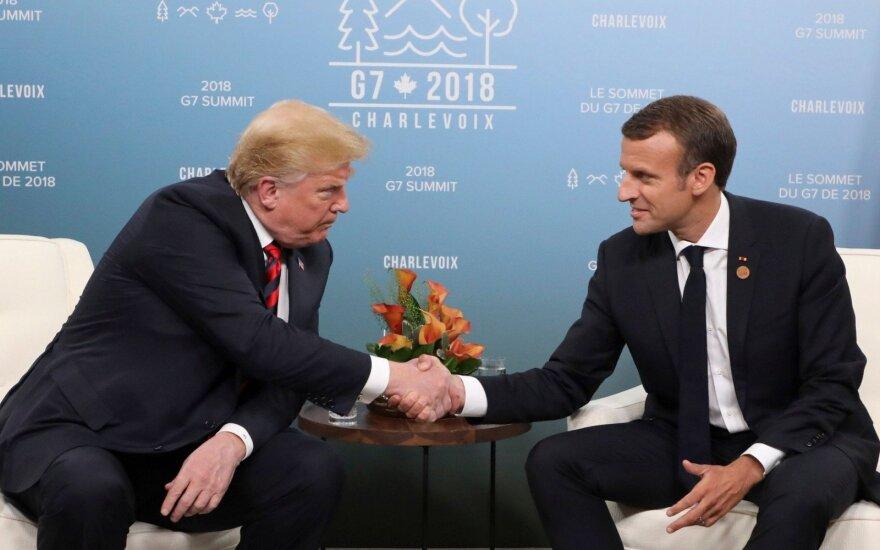 Macronas: G7 lyderiai aptars Šiaurės Korėją, Siriją ir Iraną