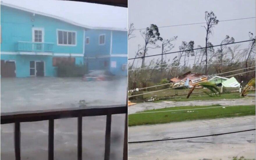 Katastrofiškas uraganas Bahamose: 295 km/val. siekiantis vėjas ūžė tarsi lėktuvo variklis, bangų aukštis kilo iki 7 m