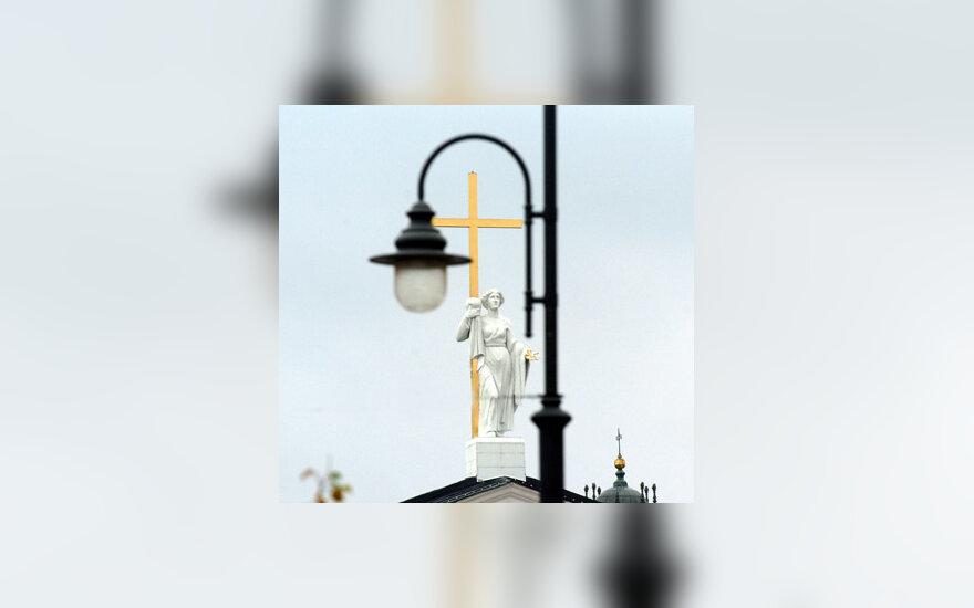 Vilniaus arkikatedra, Vilnius, senamiestis, Katedros aikštė, bažnyčia, kryžius, religija
