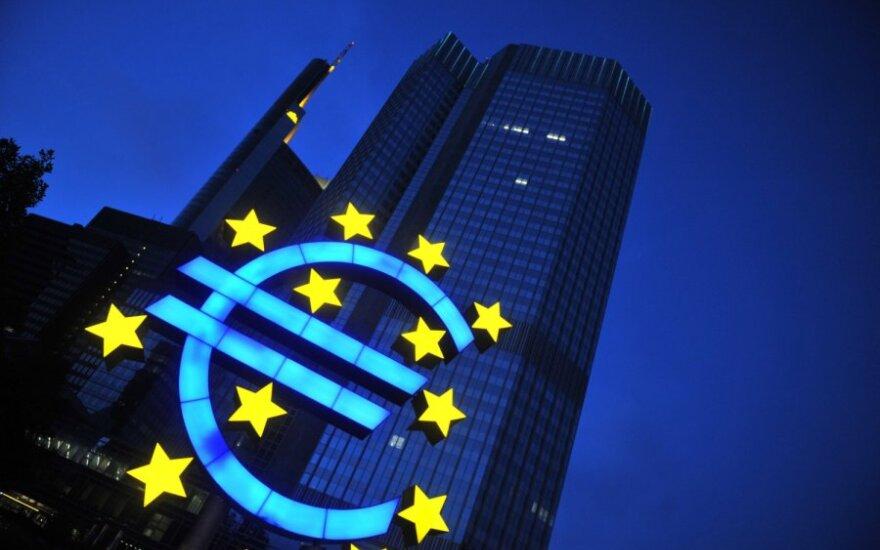 ECB: politinis netikrumas kelia riziką euro zonai