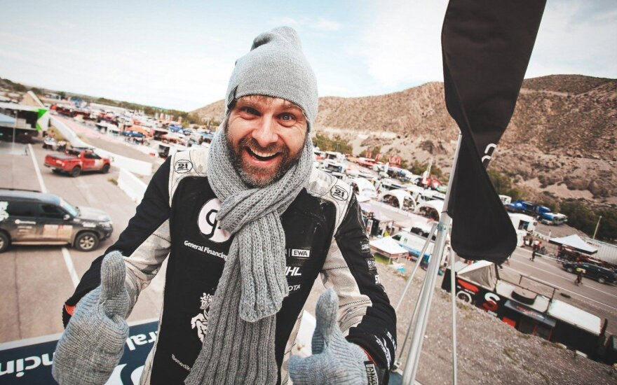 """Benediktas Vanagas iš Dakaro keliauja į """"Winter Rally"""""""
