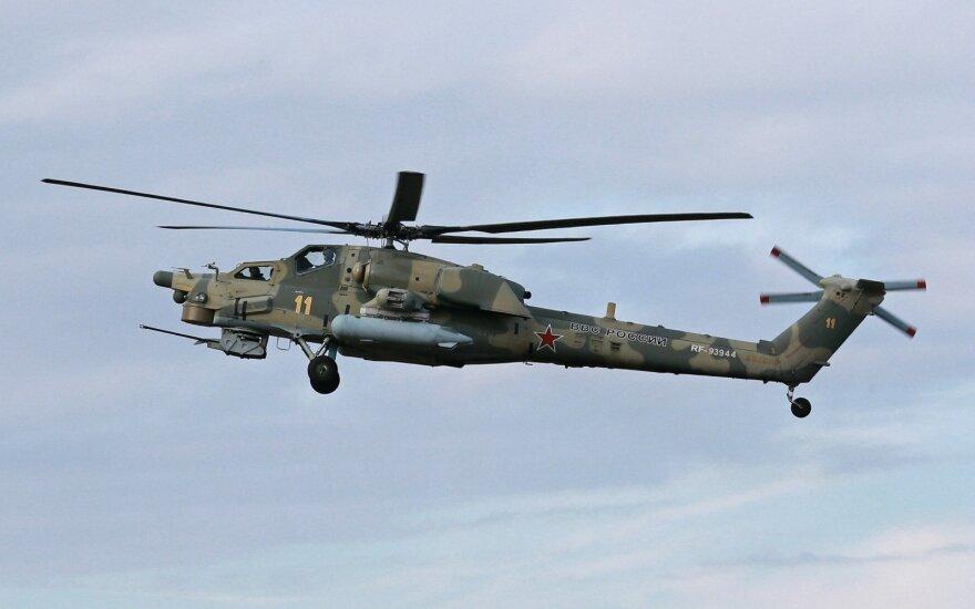 Sirijoje sudužo Rusijos sraigtasparnis