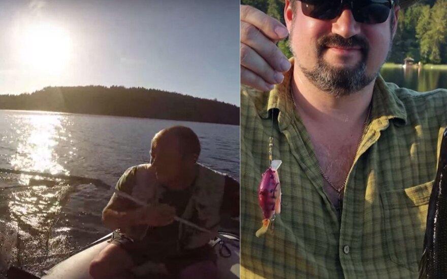 """Žvejyba """"eMinnow"""" masalu"""