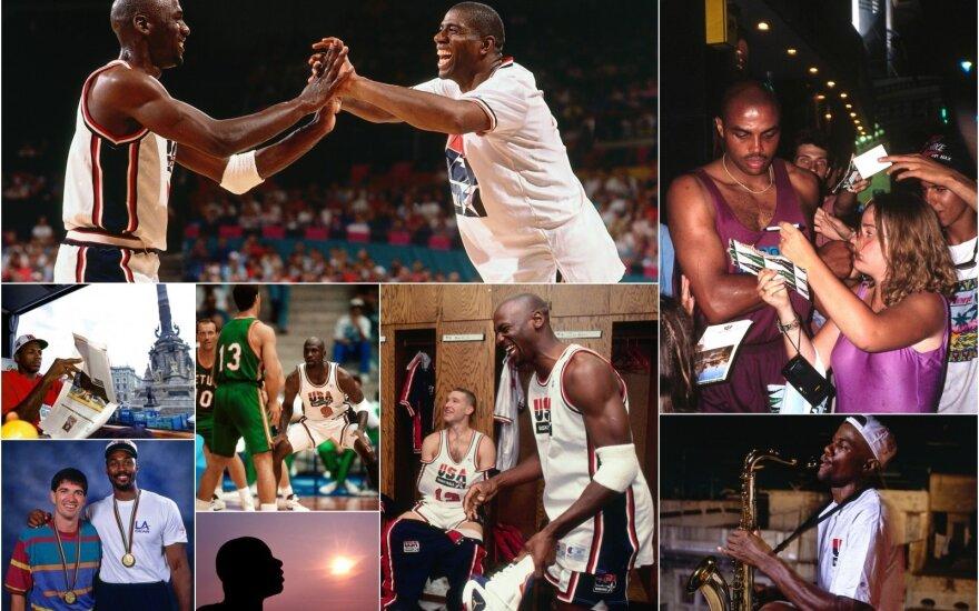 1992-ųjų JAV krepšinio rinktinė Barselonos olimpiadoje / Foto: Getty images