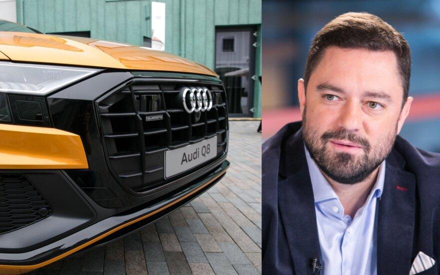 """Verslininkas Liudvikas Andriulis pasidalino savo įsigyto """"Audi Q8"""" istorija"""