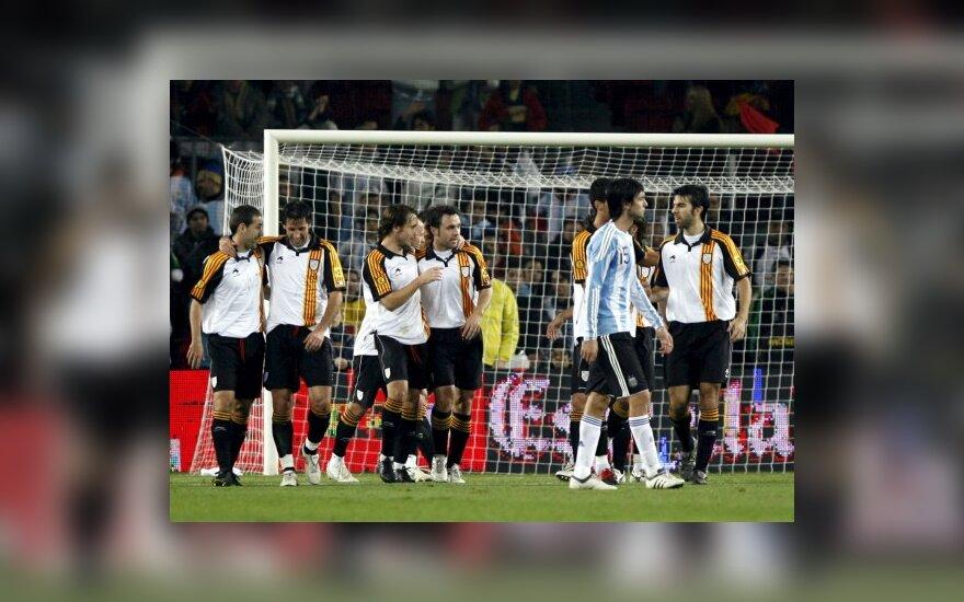 Katalonijos rinktinės futbolininkai įveikė argentiniečius