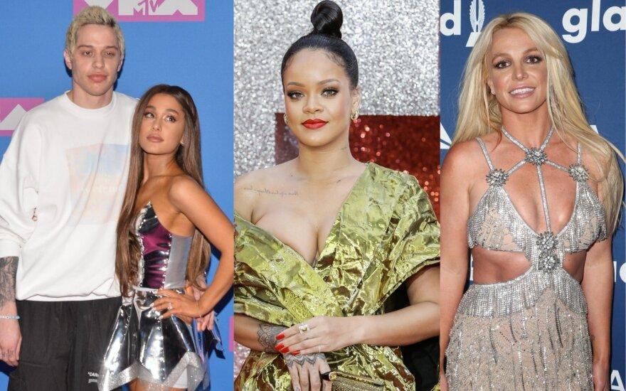 Pete Davidson, Ariana Grande, Rihanna, Britney Spears