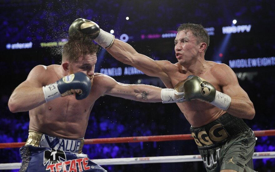 Kova dėl pasaulio bokso čempiono titulo: G. Golovkinas ir S. Alvarezas