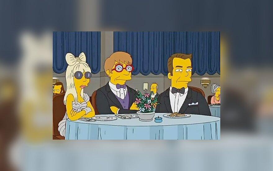 """Kadras iš serialo """"Simpsonai"""""""