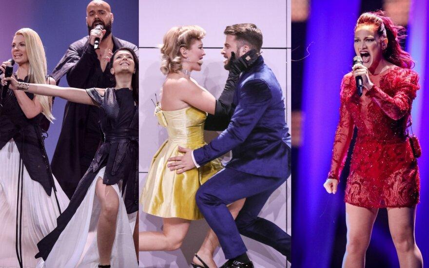 """Balsuok! Antrojo """"Eurovizijos"""" pusfinalio dalyvių pasirodymai"""