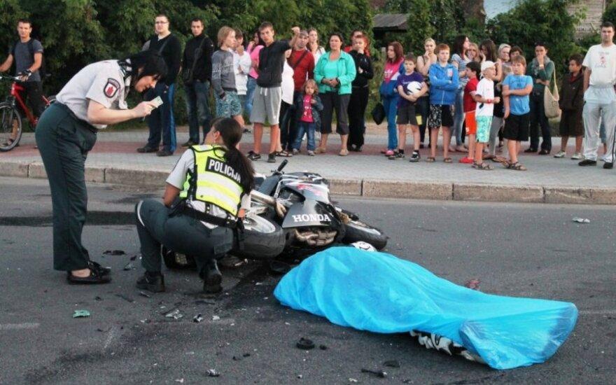 Per avariją Panevėžyje žuvo motociklininkas