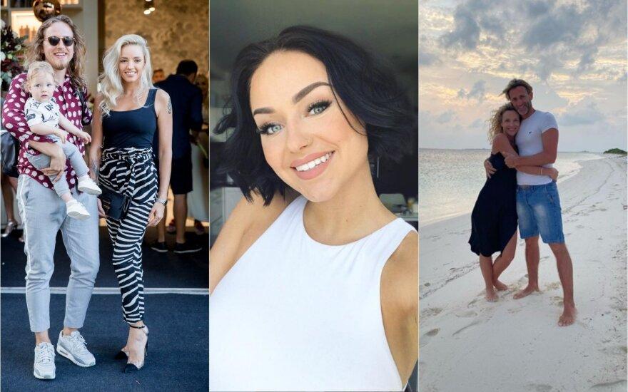Žygimantas ir Anžela Gečai, Iglė, Edita Daniūtė ir Mirko Gozzoli / Foto: Instagram ir Delfi