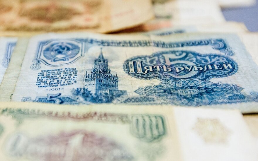 Rusijos įmonių skolos muša rekordus