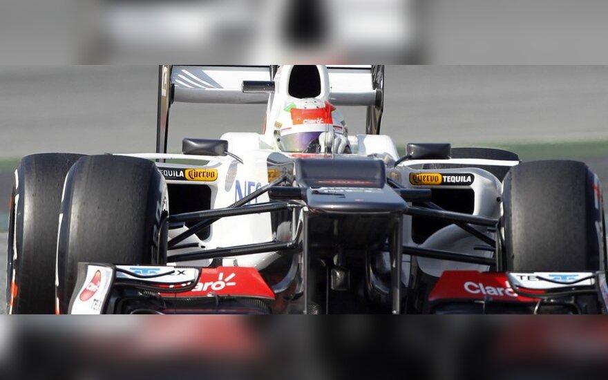 """Sergio Perezas su """"Sauber"""""""