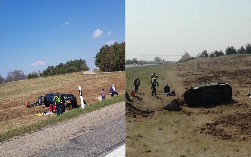 Automobilių kaktomuša Molėtų rajone: pranešama apie nukentėjusius žmones