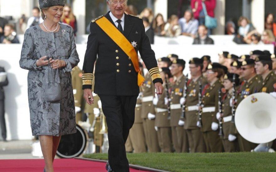 Belgijos karalius Albertas II ir karalienė Paola.