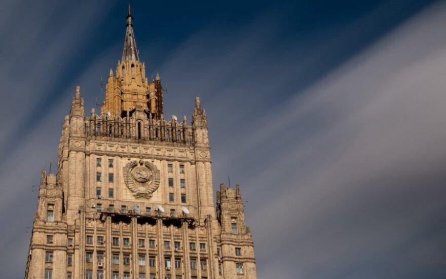 Rusijos URM: įstatymas dėl Kijevo nekontroliuojamų teritorijų reintegracijos sukurs sąlygas jų užėmimui jėga