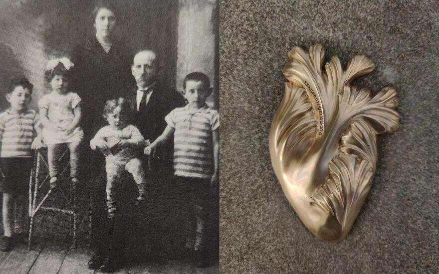 Lacų šeima apie 1928 m. Bernardas iš dešinės. Jo atminimui skirtas kūrinys