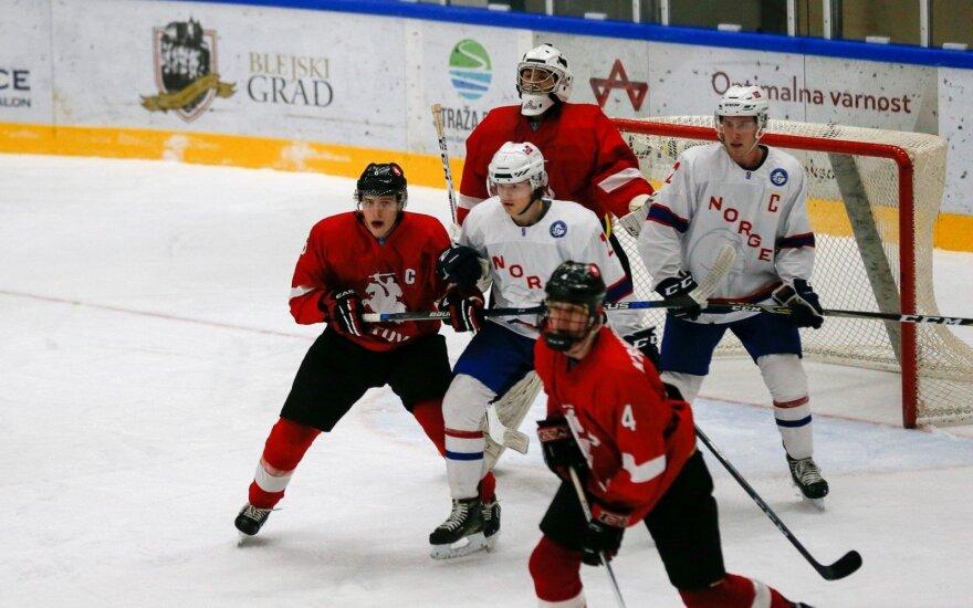 Pasaulio jaunimo ledo ritulio čempionatas: Lietuva - Norvegija (Foto: Andrey Basevich)