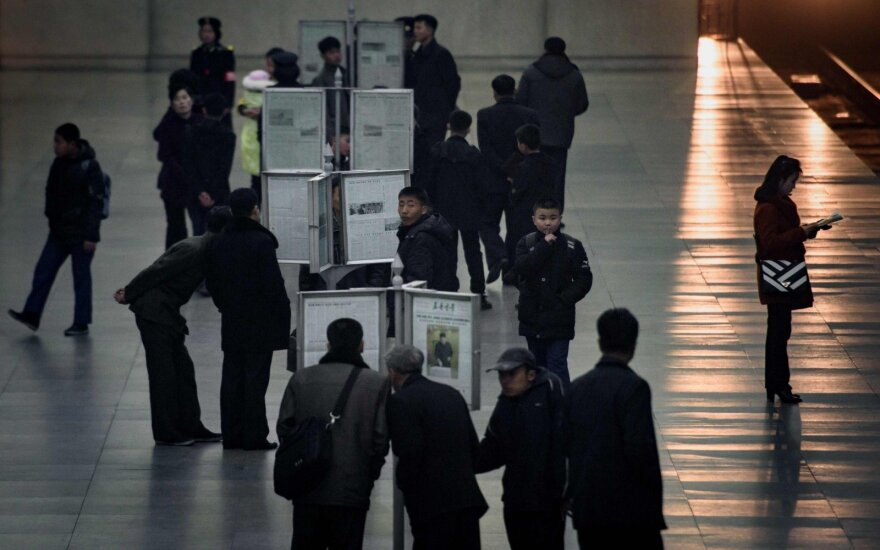 Šiaurės Korėjos parlamento rinkimuose dalyvavo 99,99 proc. rinkėjų, rinktis galima tik iš vieno kandidato