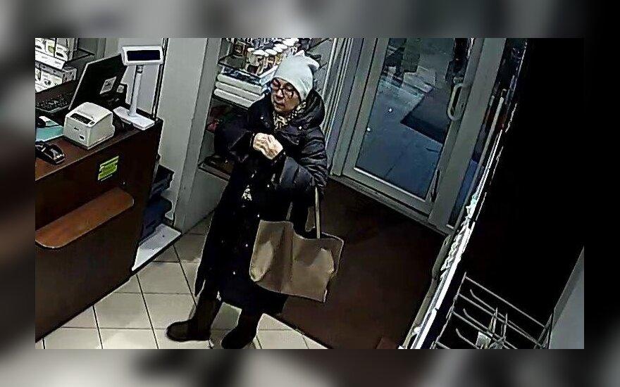 Dar viena vagystė: ieškoma vaizdo kameromis užfiksuota moteris