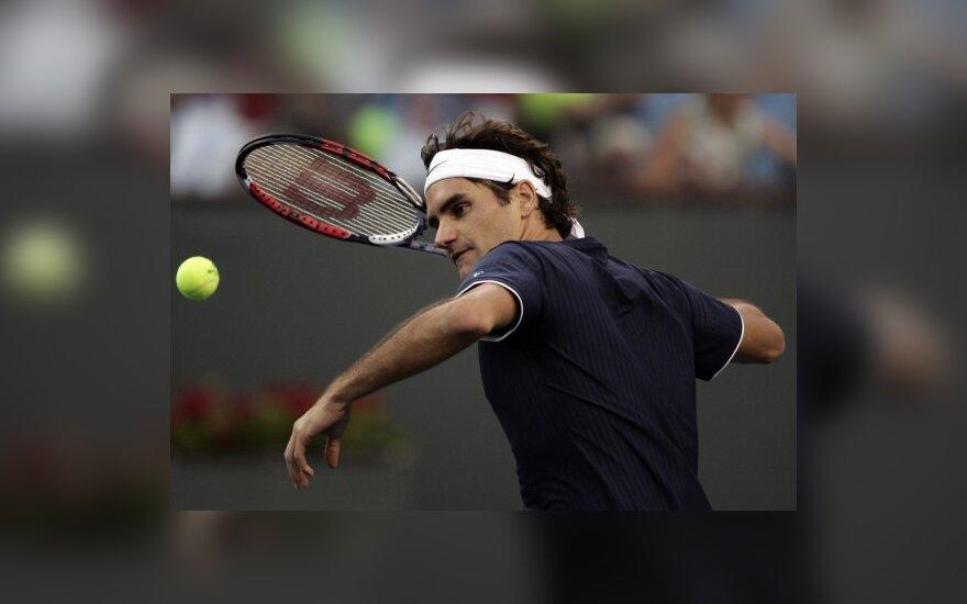 R.Federeris ir A.Murray pratęsė sėkmingą pasirodymą Kalifornijoje