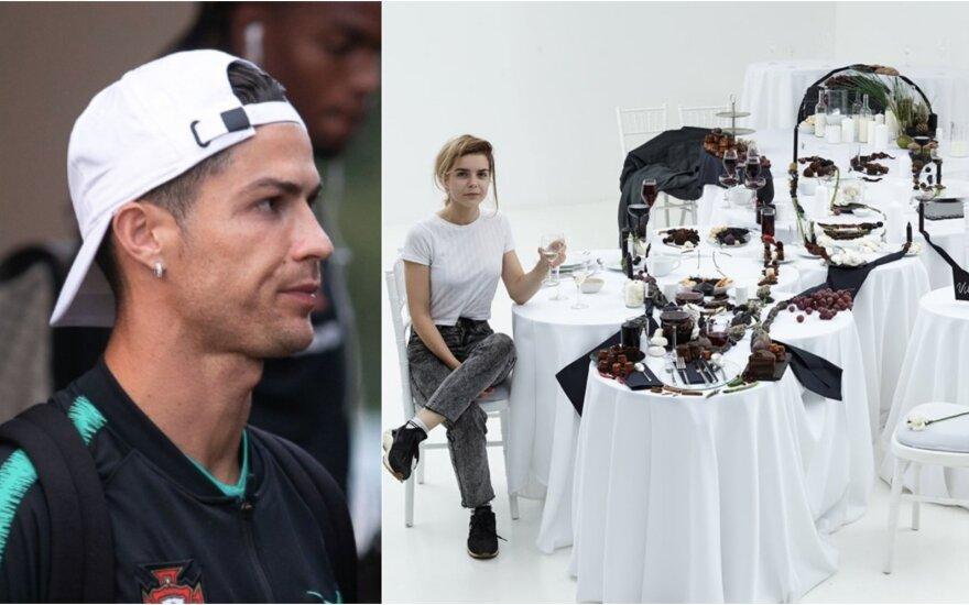 Cristiano Ronaldo ir Jolitos Vaitkutės instaliacija / Foto: DELFI, asm. archyvo