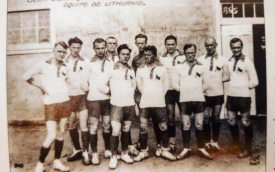 Lietuvos 1924 metų futbolo rinktinė Paryžiaus olimpinėse žaidynėse (TOK archyvo nuotr.)