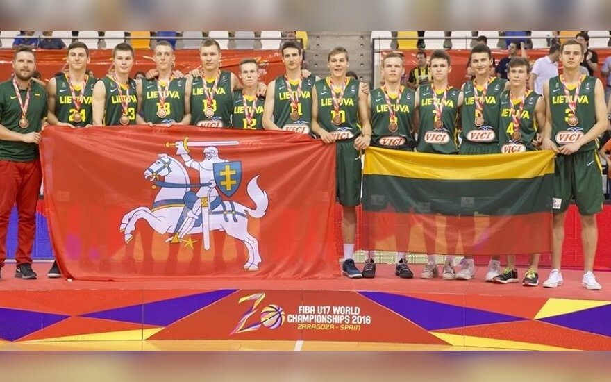 Lithuania's bronze-winning U17 basketball team