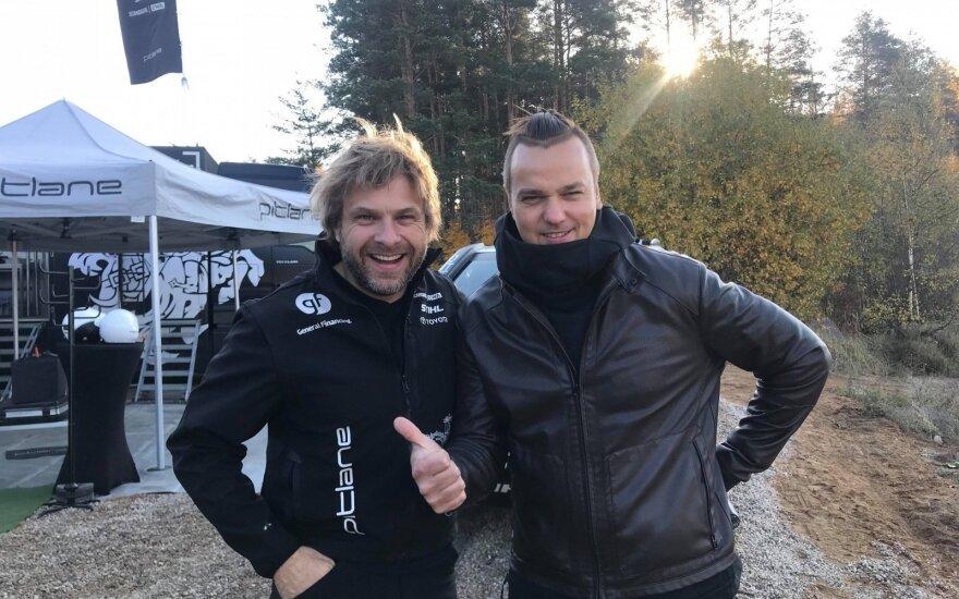 Benediktas Vanagas (kairėje) ir Paulius Garkauskas