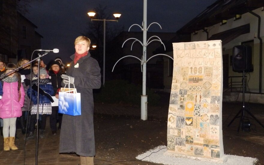 """Molėtuose atidengta unikali skulptūra """"Laiškas Lietuvai"""""""