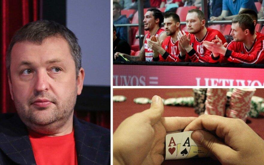 """Antanas Guoga, Vilniaus """"Lietuvos rytas"""", pokerio žaidimas (DELFI, Reuters-Scanpix nuotr.)"""