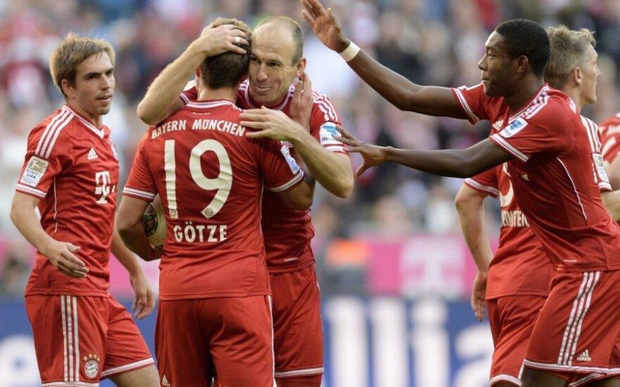 "Miuncheno ""Bayern"" futbolininkai džiaugiasi pergale"