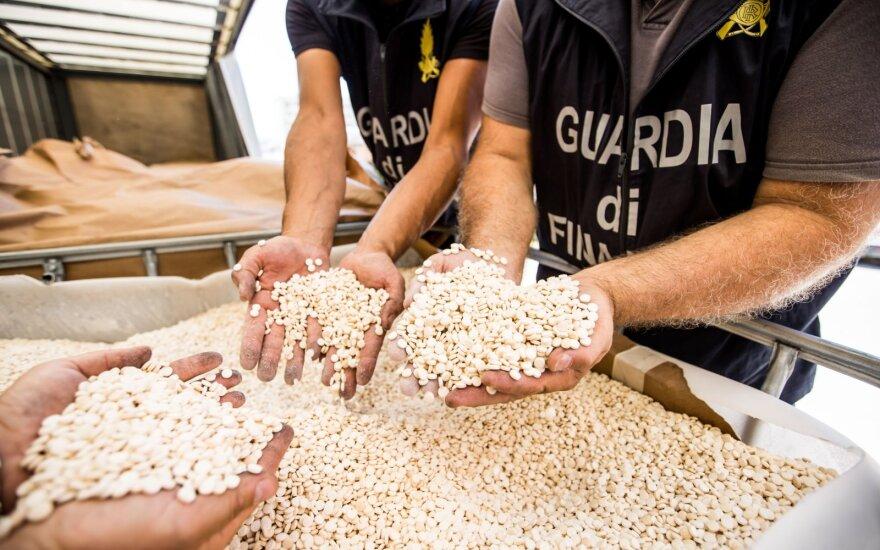 Italijoje sulaikyti narkotikai iš Sirijos