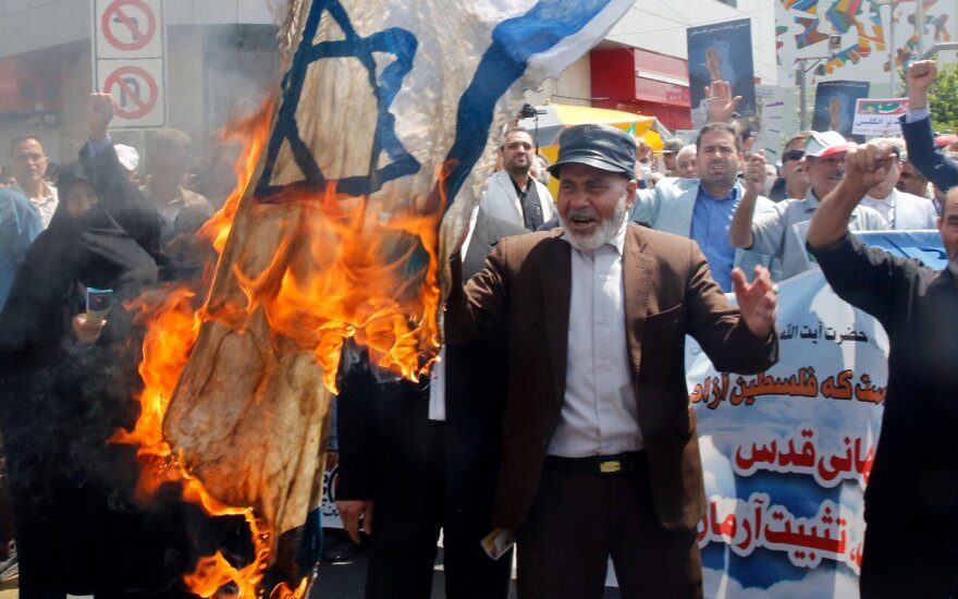 """""""Jeruzalės diena"""" Irane ir kitur Artimuosiuose Rytuose minima protestais"""