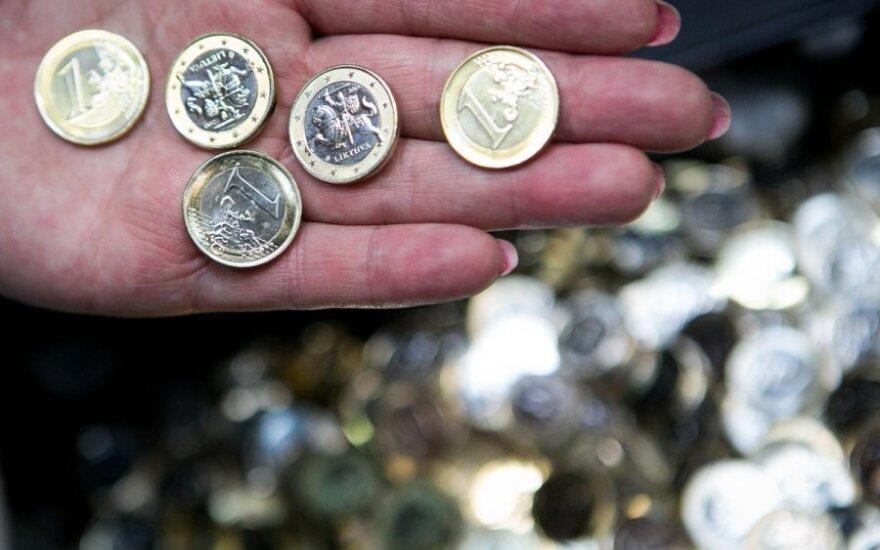 Pirmųjų euro monetų kaldinimas