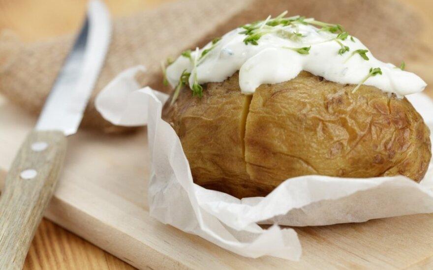 Keptos bulvės su varške