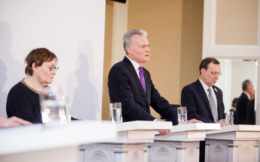 Kandidatų į prezidentus diskusijoje – kandžios replikos: norite atidaryti vartus į Rytus
