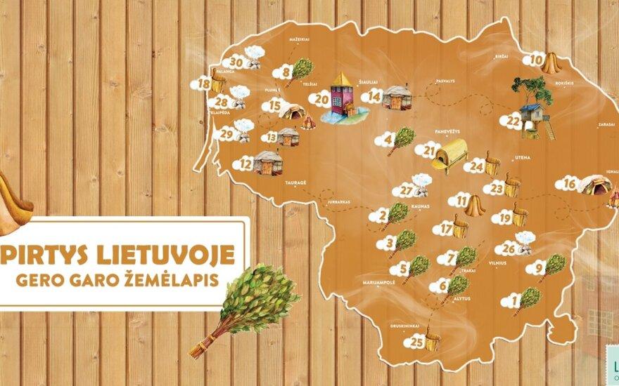 Pristatytas pirmasis šalyje pirčių žemėlapis