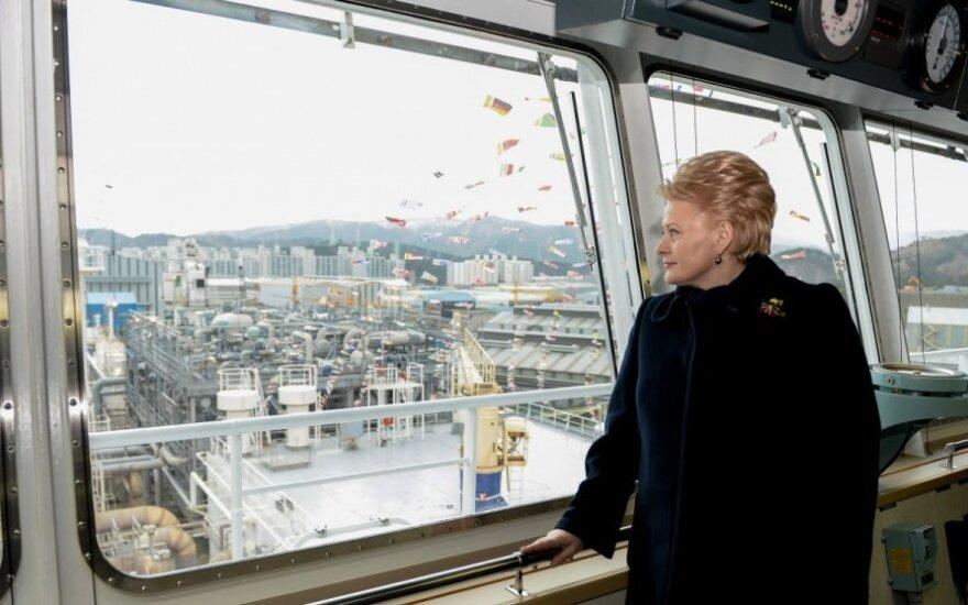 Aišku, kada į Klaipėdą atplauks SGD laivas