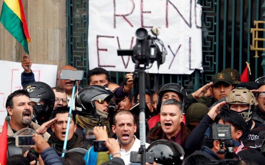 Protestai prieš prezidentą Evo Moralesą