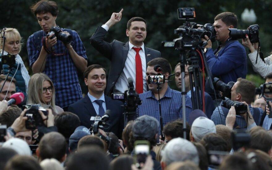 Ilja Jašinas mitinge Maskvoje