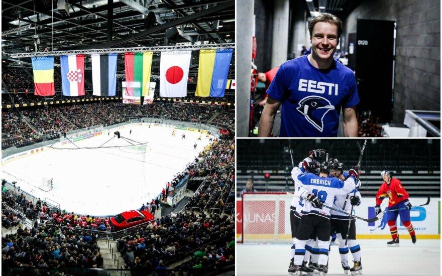 Roberto Roobos vedama Estijos rinktinė tapo didžiausia staigmena Kaune vykstančiame pasaulio ledo ritulio čempionato pirmo diviziono turnyre