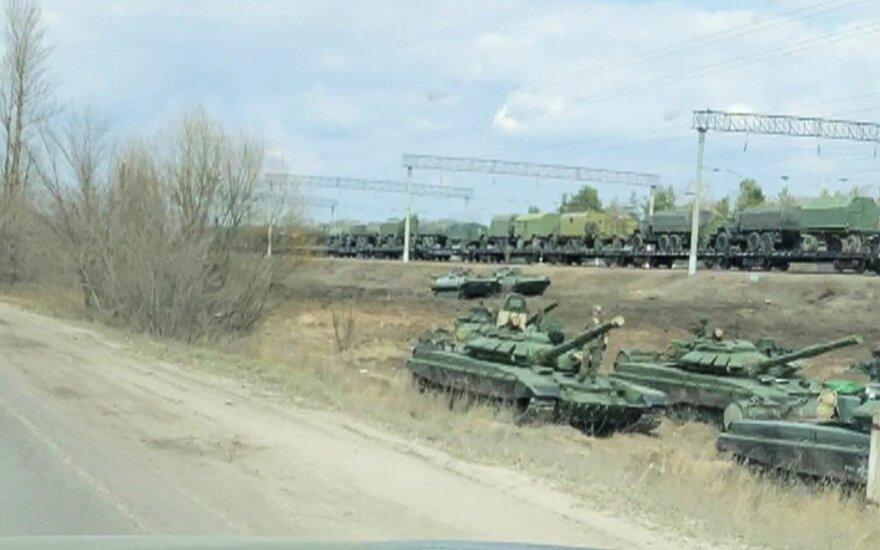 Vokietijos, Prancūzijos ir Ukrainos lyderiai ragina Rusiją atitraukti karius nuo sienos