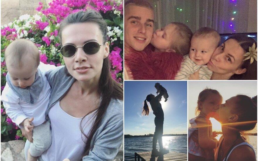 Veronika Montvydienė su šeima