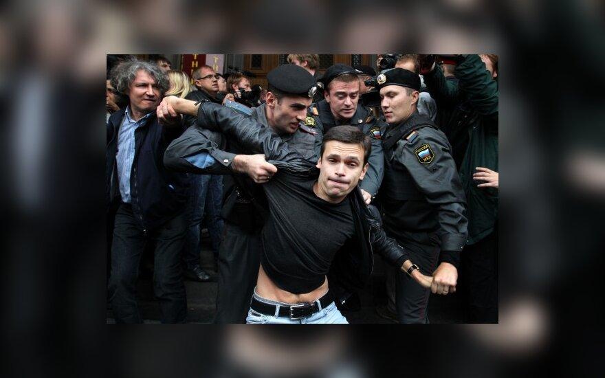 Protesto akcija Maskvos Triumfo aikštėje