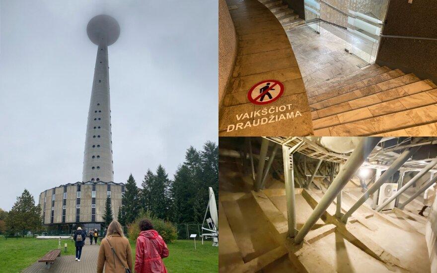 Unikali galimybė pamatyti visuomenei uždaras TV bokšto vietas: daugelis nė nenumano, kad ten galima patekti